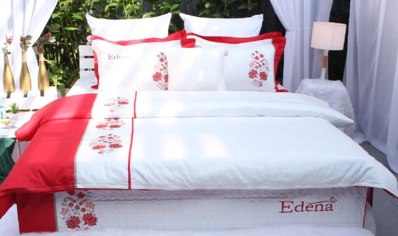 Bộ chăn ga gối Edena Cotton Solid 358