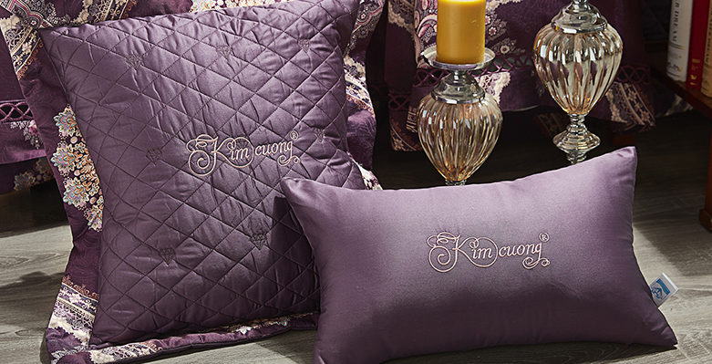 Bộ chăn drap phủ Luxury gấm lụa LXG 7301P