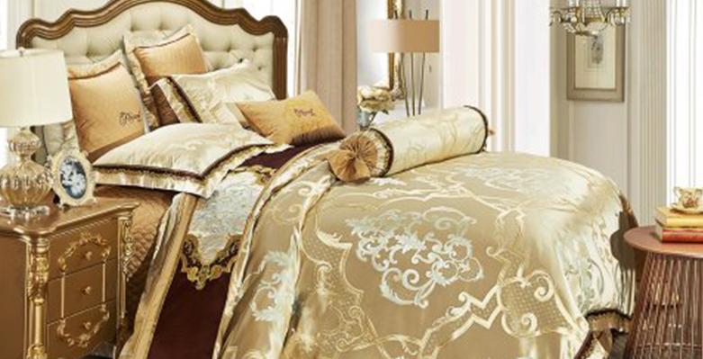 Bộ chăn drap phủ Luxury gấm lụa LXG 7402P