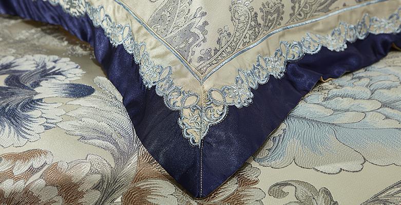 Bộ chăn drap phủ Luxury gấm lụa LXG 7403P
