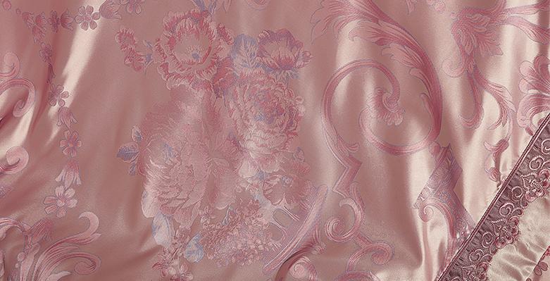 Bộ chăn drap phủ Luxury gấm lụa LXG 7901P