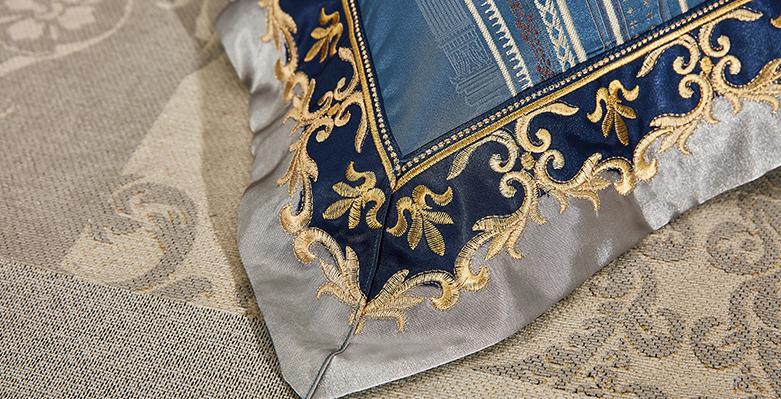 Bộ chăn drap phủ Luxury gấm lụa LXG 8103P